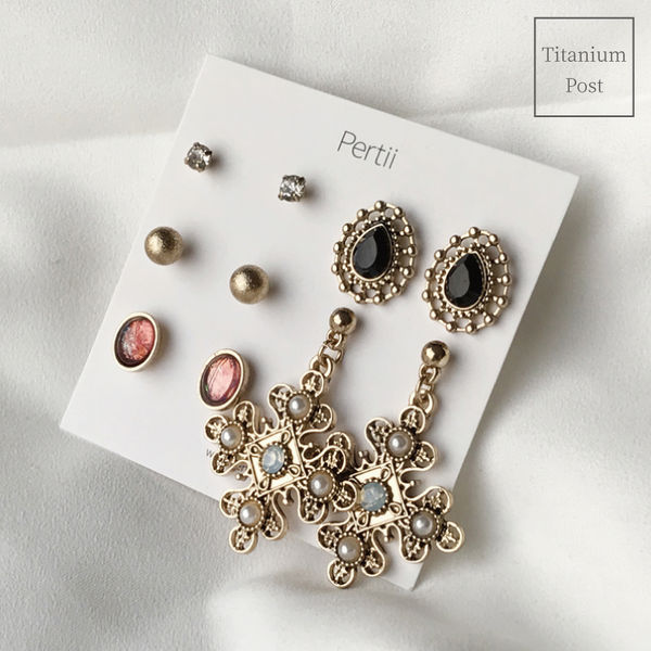 Verpan earrings set